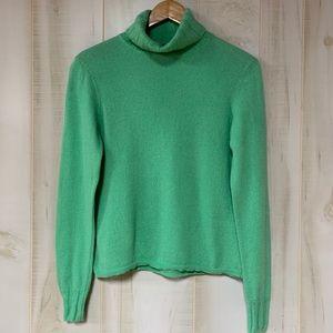 Griffin Green 100% Cashmere Turtleneck Sweater M